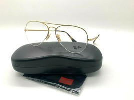 New Ray-Ban Optical Rb 6589 3033 Gold Eyeglasses Frame 56-15-140MM - $77.57