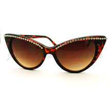Womens Fashion Sunglasses Super Cateye Rhinestone Top Hot Design - $10.95