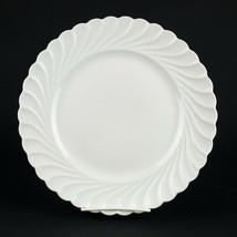 "Haviland Limoges Torse Dinner Plate, Vintage All White Swirl Porcelain 10 3/8"" - $44.10"