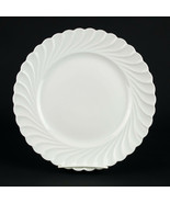 Haviland Limoges Torse Dinner Plate, Vintage All White Swirl Porcelain 1... - $44.10
