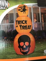 New Gemmy Halloween 8.5' Triple Stack Pumpkin Lighted Airblown/Inflatable Decor - $118.79