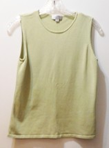 TAHARI Arthur S. Levin Sage Green Scoop Neck Shell - Size 8 - Classic Pi... - $16.68