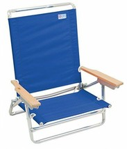 Rio Brands 5 Position Classic Lay Flat Beach Chair Pacific Blue - $71.68