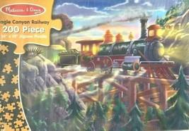 Melissa & Doug 200 Piece Puzzle Eagle Canyon Railway Train Railroad Nib - $9.75