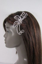 Women Silver Metal Head Fashion Jewelry Butterfly Hair Pin Bridal Weddin... - $20.56