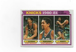1981 Topps #58 New York Knicks 1980-81 Team Leaders NM-MT - $2.25