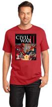 Avengers Iron Man Captain Marvel Falcon Spider-Man Men Crew T-Shirt Siz... - $19.99+