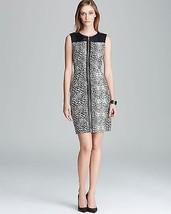 VINCE CAMUTO BLACK & WHITE LEOPARD FRONT ZIP DRESS ( Sz. 2 ) NWT $189.00 - $45.54