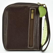 Chala Handbags Faux Leather Whimsical Koala Brown Zip Around Wristlet Wallet image 2