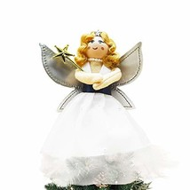 YuQi Christmas Tree Angel Toppers with Silver Wings, Mini Xmas Tree Orna... - $14.56
