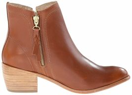 "NEW 1883 by Wolverine Womens Ella Brown Tan Leather 5"" Side Zip Ankle Bootie NIB image 3"