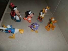 Mickey's Friends Playset/ 87Figure Cake Topper Donald,Goofey,Pluto,Clara... - $6.92