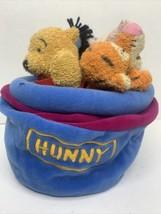 Disney World Store Baby Plush Winnie the Pooh Rattle Eeyore Hunny Pot Pr... - $23.75