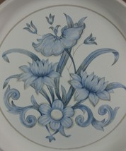 Royal Doulton Inspiration LS1016 Dinner Plate(s) Lambethware England Blue Floral image 2