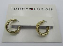 Tommy Hilfiger Gold Hoop Earrings on Original C... - $12.86