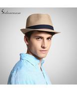Sedancasesa® Men Fedora Straw Hats For Women Man Holiday Beach Summer Sun - $25.32