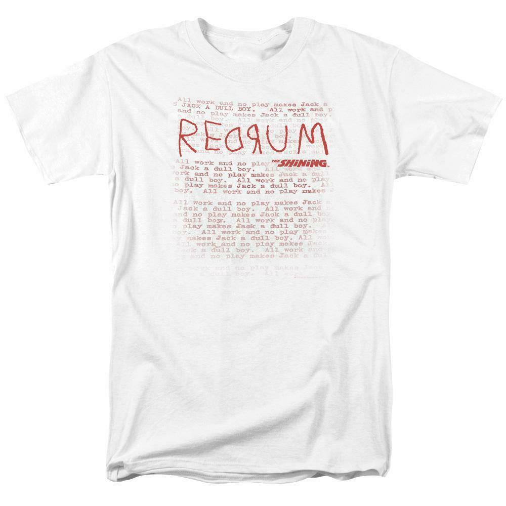 The Shining RedRum t-shirt retro 80's horror movie graphic tee WBM563