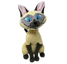 "16"" Disney Store Si Siamese Cat Lady & The Tramp Stuffed Animal Plush Toy Am - $92.57"