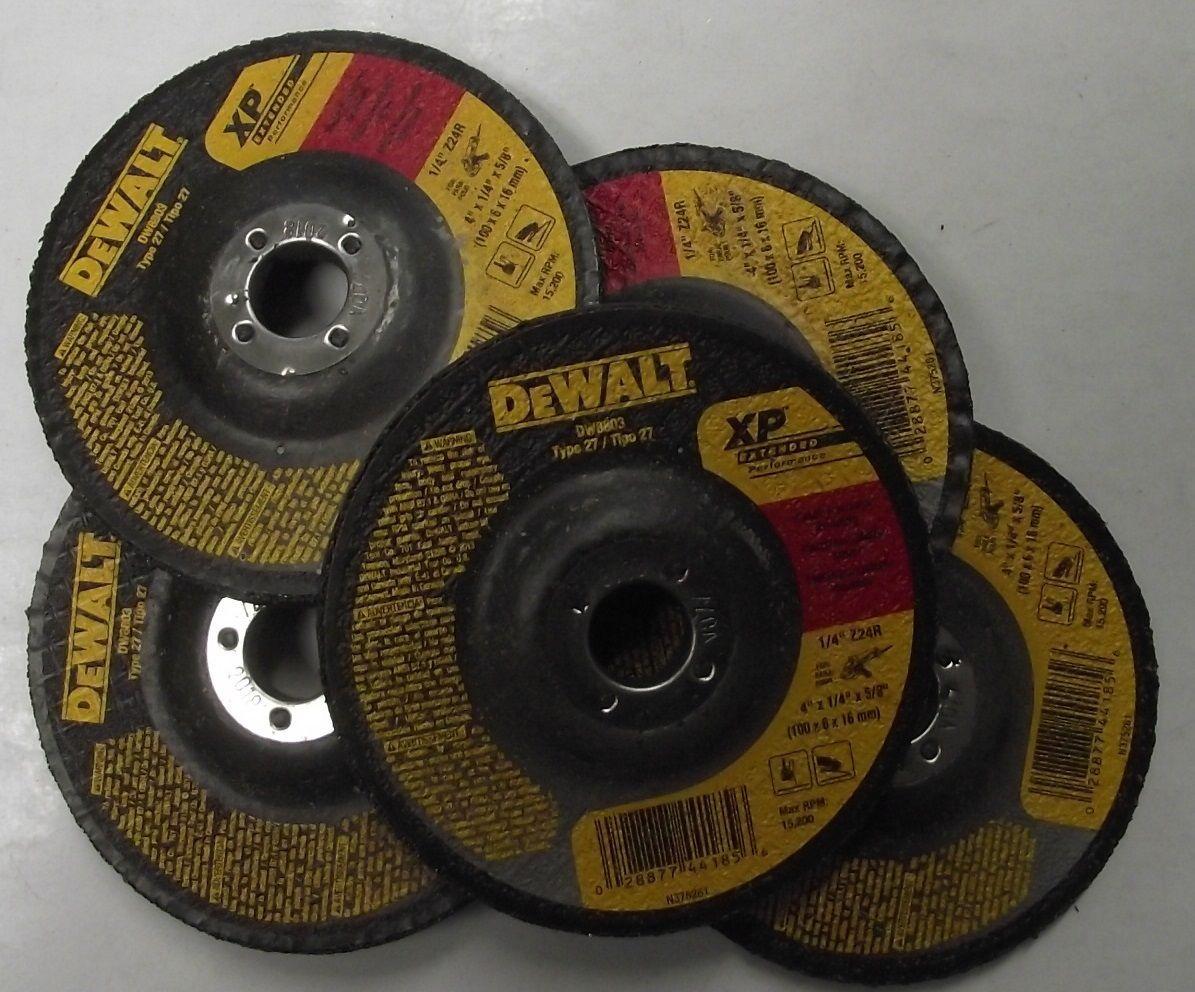 "DEWALT DW8803 4/"" x 1//4/"" x 5//8/"" XP Grinding wheel 5pcs."