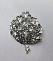 "Vintage SARAH COVENTRY ""Sparkle Lites"" Rhinestone silver tone Brooch Pin - $14.01"
