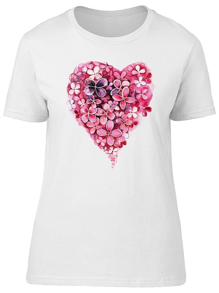 Primary image for Watercolor Flower Heart Women's Tee -Image by Shutterstock