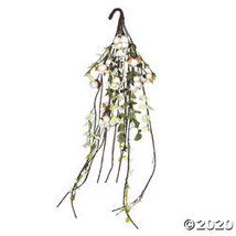 "Vickerman 36"" Artificial White Cotton Mixed Greenery Teardrop - $36.10"
