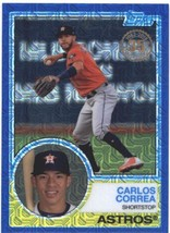 2018 Topps 83 Chrome Silver Promo Series 1 Blue #8 Carlos Correa NM-MT #d 150 As - $15.00