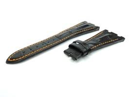 28mm Black/Orang Real Leather Watch Strap For Audemars Piguet Royal Oak Offshore - $41.94