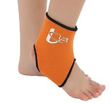 PANDA SUPERSTORE 1 Pcs Breathable Ankle Foot Brace Support Pad Free Size Orange