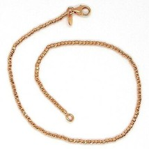 18K ROSE GOLD BRACELET WITH FINELY WORKED SPHERES, 1.5 MM DIAMOND CUT BALLS image 2