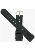 Hadley Roma 22mm Men's Diver's Black Strap SHIPSFREE - $8.46