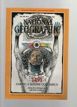 National Geographic - October 1991 - 1491, America Before Columbus, Rubies. - $1.35