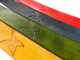 Leather Bookmark - Majestic Butterfly - $10.00