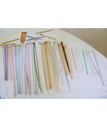 Lot of Knitting Needles Metal, Wooden, Circular - $18.00