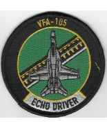 """4"""" NAVY VFA-105 GUNSLINGERS ECHO BABY BULLET GREEN EMBROIDERED JACKET PATCH - $28.49"""