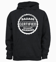 Certified Badass Account Manager Accounting Job Kids Hoody Hoodie Youth - $19.29