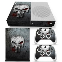 Xbox One S XB1 Punisher Console & 2 Controllers Decal Vinyl Cover Skin S... - $15.81