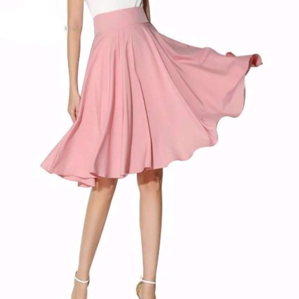 Daisy dress for less skater skirts flared pleated knee length women skater skirts 1397638168607