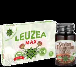 Ceylon Cinnamon 80 Caps  + 30 Tablets Leuzea Maral Root Natural Ecdysterone - $42.56