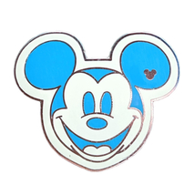 Mickey Mouse Disney Lapel Pin: Colorful Blue Face - $8.90