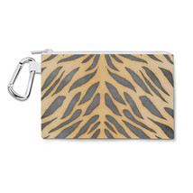 Tiger Print Canvas Zip Pouch - $15.99+