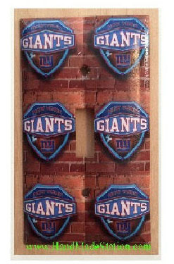 New York NY Giants Logo Light Switch Power Outlet Cover Plate Home decor