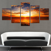 5 Piece HD Sea View Art Painting Oil Print On Canvas Wall Home Decor Unf... - $18.99+