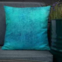 Tie Dye Blue Nautical Garden Patio Sofa Decorative Pillow Cushion Vintage  - $23.99+