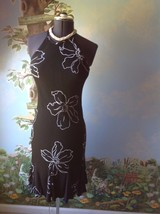 S. L. Fashions Black and White Floral Women's Sleeveless Dress Size 10 - $27.72
