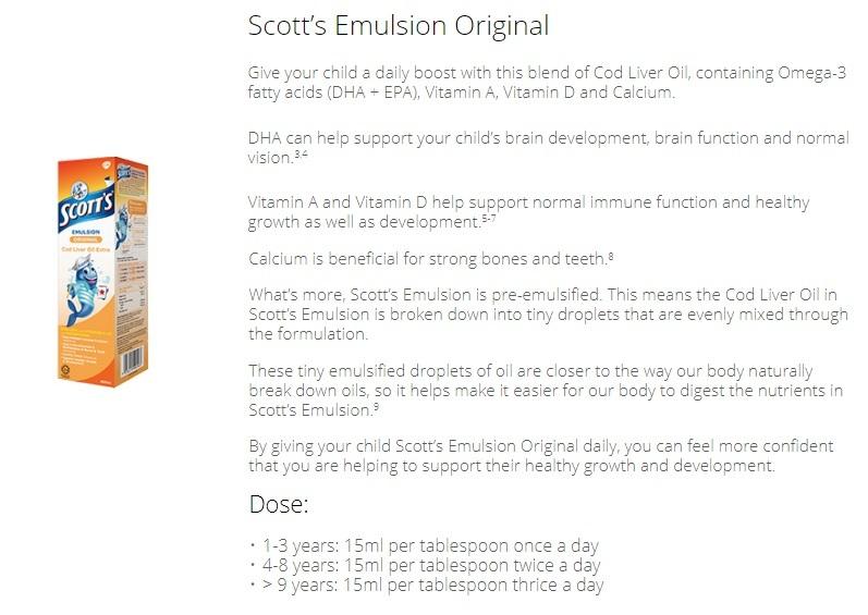 3 BOTTLES of 400ml SCOTT'S EMULSION COD LIVER OIL ORIGINAL FLAVOUR