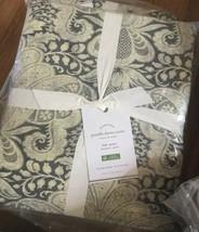 Pottery Barn Janelle Duvet Cover Set Gray Queen 2 Standard Shams Damask ... - $178.00