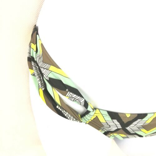 L Space Side Loop Diamond Patterned Bikini Bottoms Mint Green Tan Hip Womens S