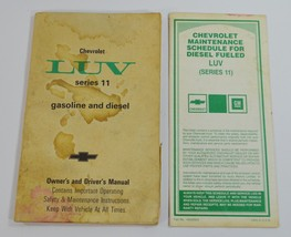 1981 Chevrolet Luv Truck Series 11 Owners Drivers Manual w/ Maintenance Schedule - $8.99