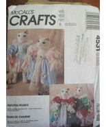 McCall's Crafts 4531 Fanciful Felines Cat Pattern & Wardrobe - $12.86